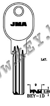 Заготовка за секретен специален ямков ключ от key.bg
