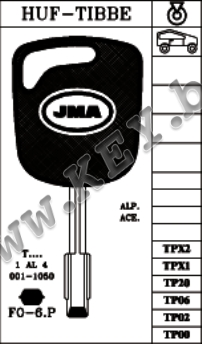 Заготовка за ключ форд с място за чип от key.bg