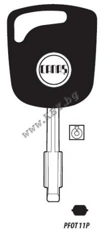 ключ с място за чип от key.bg