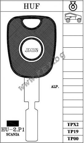 Заготовка за Скания с място за чип от key.bg