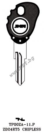 Заготовка за ключ с място за чип от key.bg