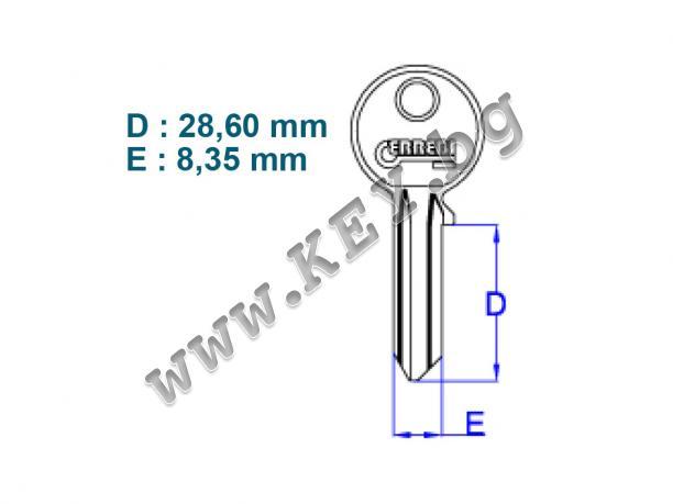 стоманена заготовка за секретен ключ