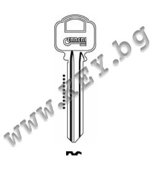 Заготовка за секретен ключ Errebi от key.bg