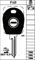 Заготовка за ключ шкода с място за чип от key.bg