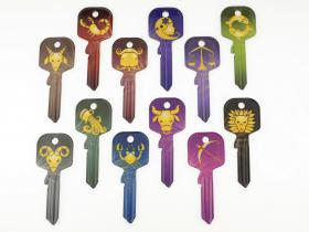 цветни ключове със зодии от key.bg
